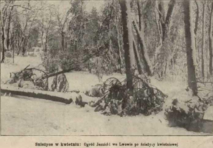 Снігопад у Львові, квітень 1912 р.