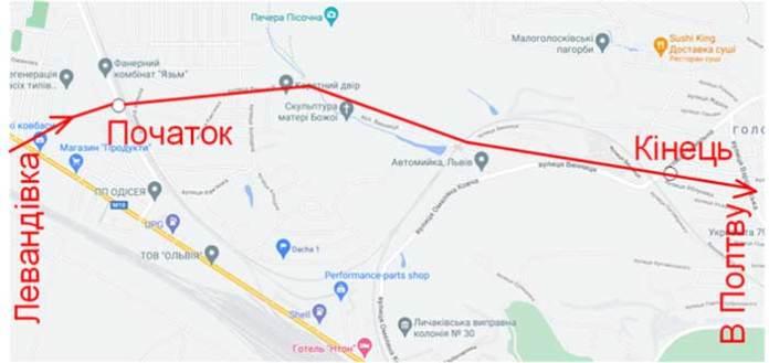 Карта пройденого маршруту