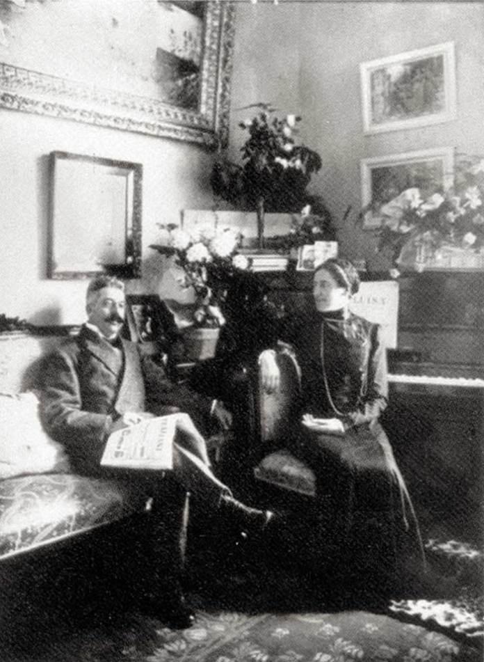 Соломія Крушельницька з чоловіком Чезаре Річчоні у Віареджо, 1910-і рр.