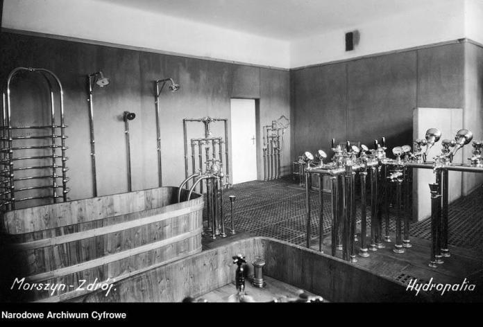 """Моршин. Гідромасажний локаль. Гідропатія - водолікування. 1938 рік. Гейби тогочасне джакузі. """"Визволителі"""" реквізували цілком впорядкований оздоровчий заклад."""