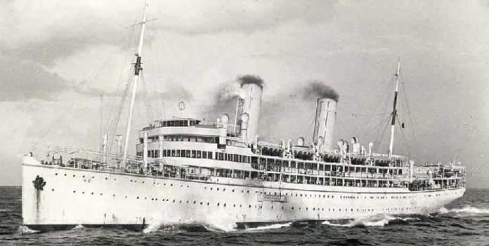 Пароплав «Wien» на якому Іван Труш мандрує 1912 р. до Єгипту