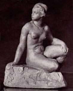 Антін Павлось. Відпочинок, 1937, теракота.
