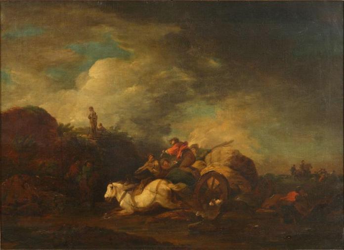 """Франческо Казанова """"Напад розбійників"""", картина, що спонукала Ходкевича досліджувати світло"""