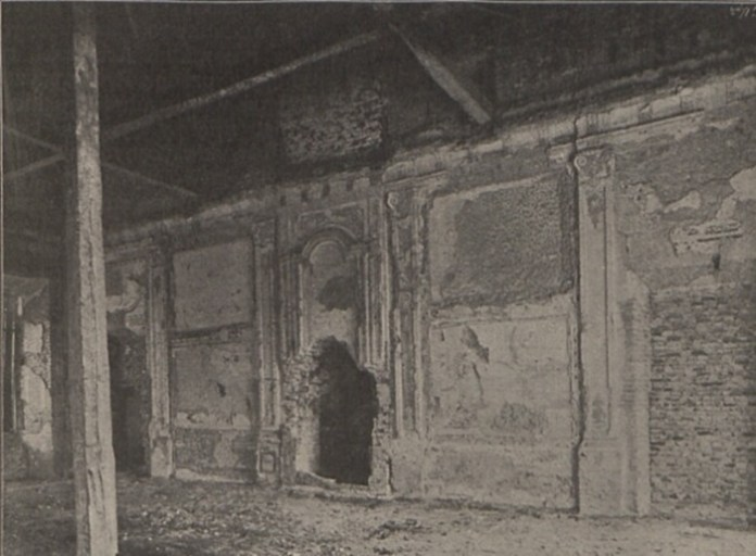 Інтер'єр Жовківського замку, 1900 р.