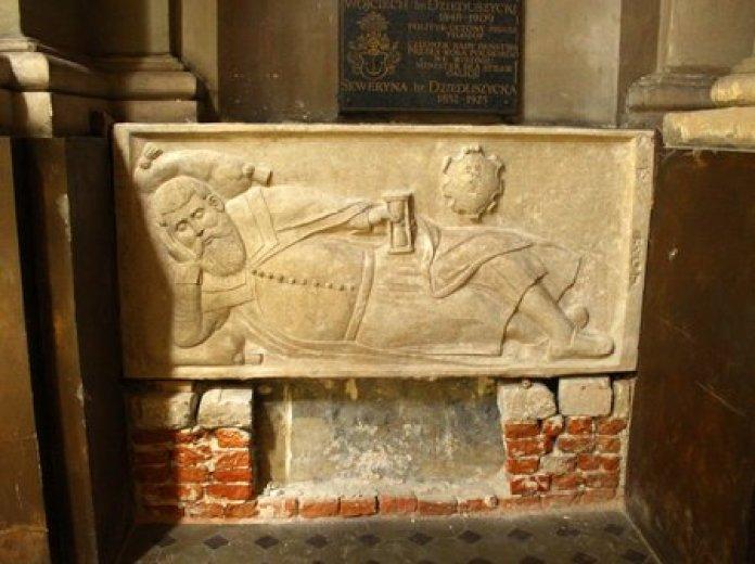 Надгробна плита Станіслава Ганеля з латинської катедри. Фото з https://zaxid.net/