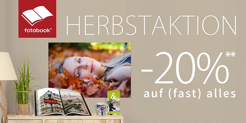 , Herbstaktion bei Fotobook