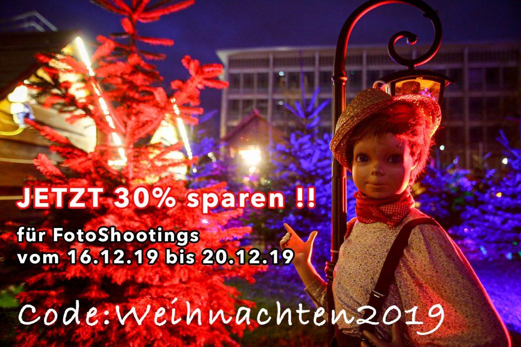 Weihnachtsrabatt beim FotoShooting, Weihnachtsrabatt