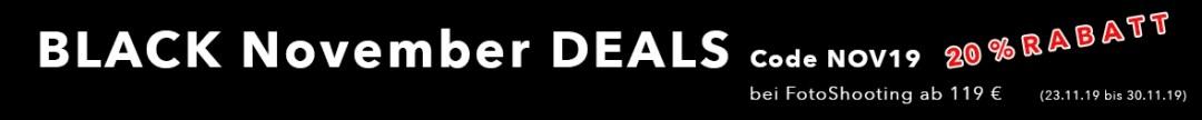 Online FotoShooting auswählen und Black November Gutschein kaufen, Black November DEALS