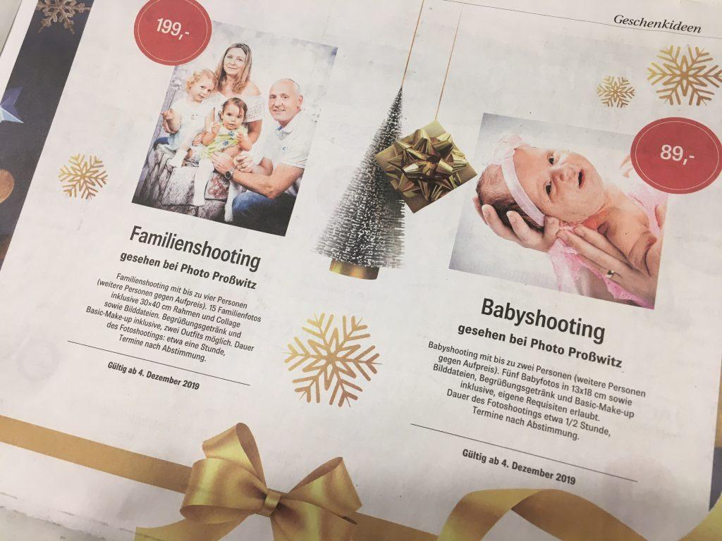 FamilienfotoShooting mit 15 Dateien Collage und Rahmen, Angebote in der Zeitung