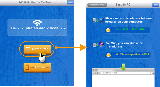 download images to ipad from pc
