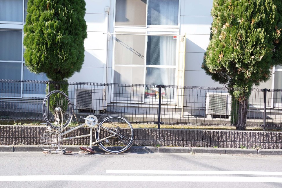 bicycle in residential area in Kawasaki