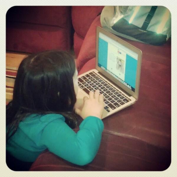 She's doing homework? OK then.