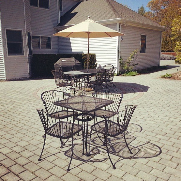 Mission accomplished, the patio is furnished