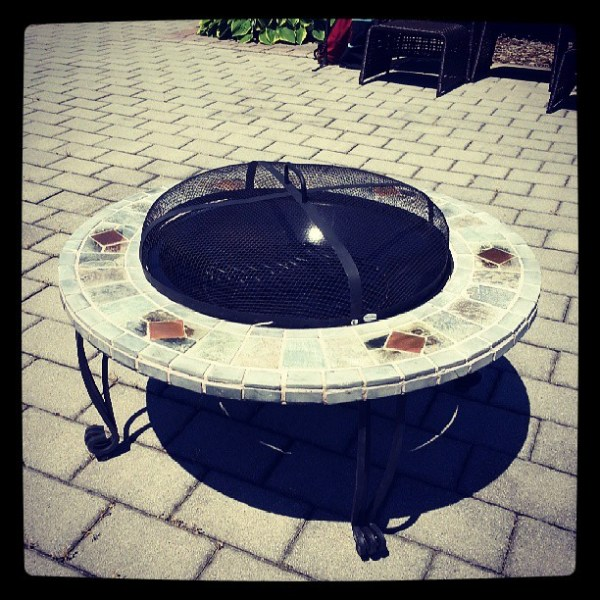 Fire pit made, guess what we're using tonight?