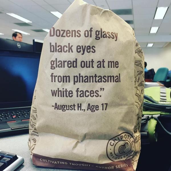 What the heck is on that Chipotle bag?