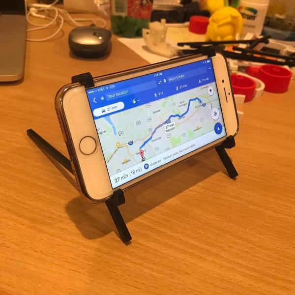 On vacation we needed a phone mount for Google maps. I started designing one.