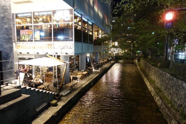 Walking around Kyoto for dinner