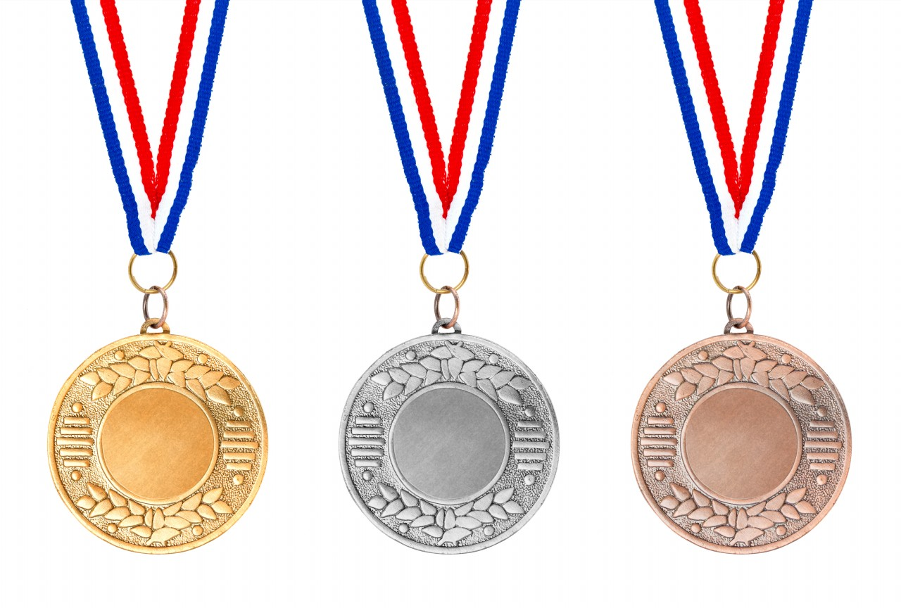 hight resolution of olympic medals gold silver bronze elsoar