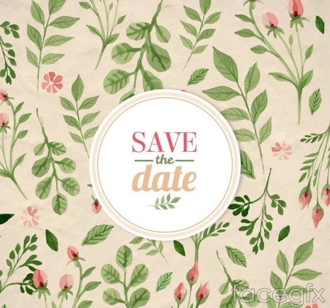 Wedding Invitation Vector Graphic Beautiful Pattern Stylish Card