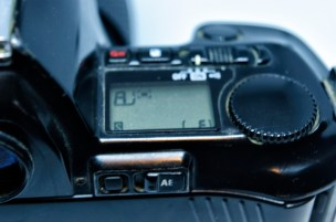 Nikon F-801 adjustment controls
