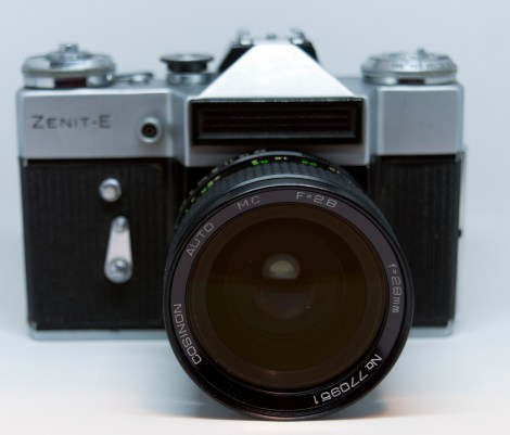 Zenit E with wide-angle lens