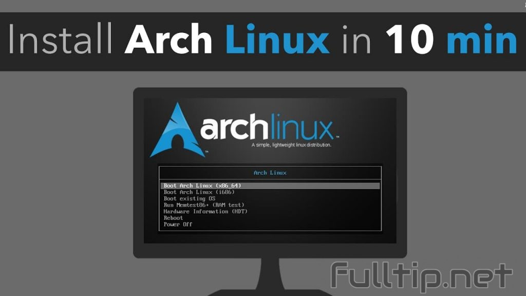 Instructions for installing basic Arch Linux