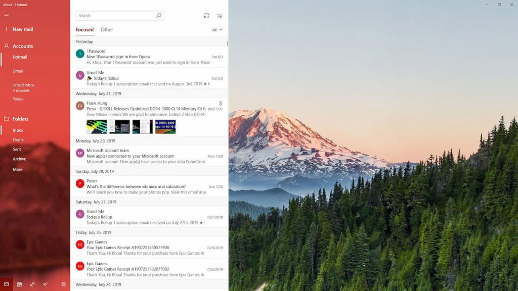 Personalize Windows Mail