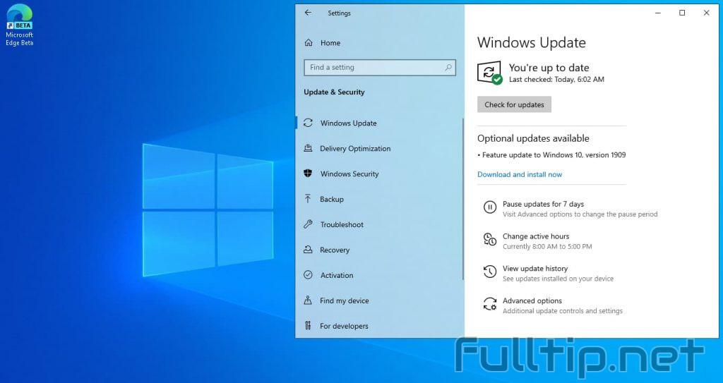 Windows 10 November Update 1909