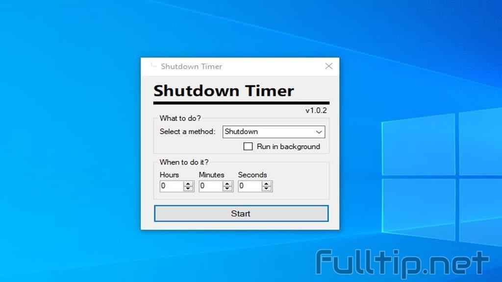 Automatic shutdown timer