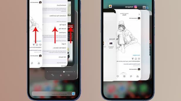 Open the multitasking window and swipe up