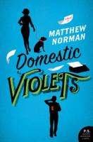 cover of DOMESTIC VIOLETS by Matthew Norman, via Goodreads