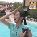 浦口史帆アナ[東海テレビ]プールからの生中継でびしょ濡れ!スケスケ衣装から何か透けてるw