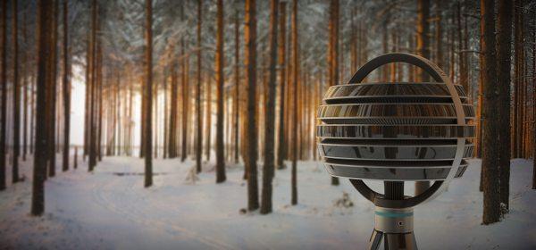 Vue conceptuelle d'une Immerge filmant dans la forêt. document Lytro