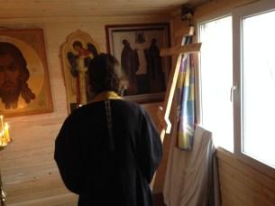 1- чин освящения Креста в часовне свв. Петра и Февронии