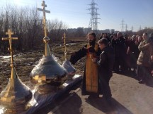28 - Освящение куполов храма