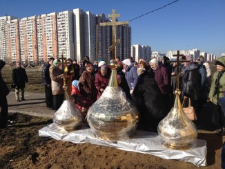 33 - Освящение куполов храма