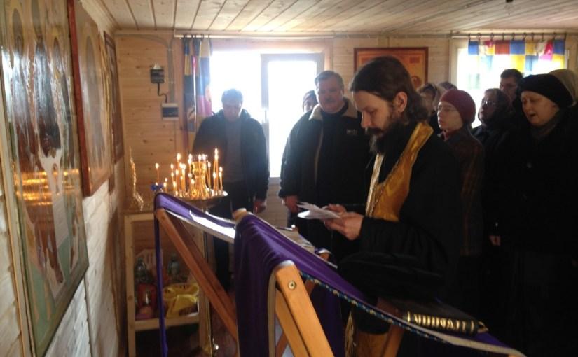 Последний воскресный молебен о строительстве храма