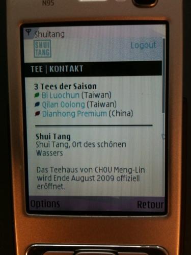 Die 3 Tees der Saison, Shui Tang Mobile
