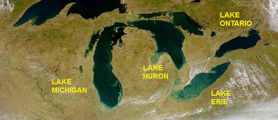 Superior, michigan, huron, erie, and ontario. All About The Great Lakes Superior Ontario Huron Michigan