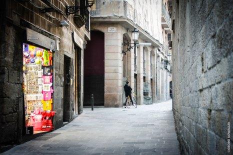 In der Altstadt von Barcelona