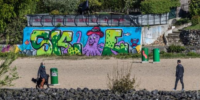 Happy Krake - Hamburg - Elbufer
