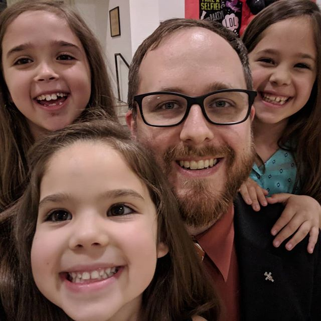 Father-Daughter Dance at @st.ignatiusmartyraustin. The last dance was an interesting experiment in four-person dancing.