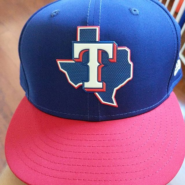 New hat day! The @rangers batting practice hat, a 59fifty with the newish proflight material. So far so good for a good summer hat.