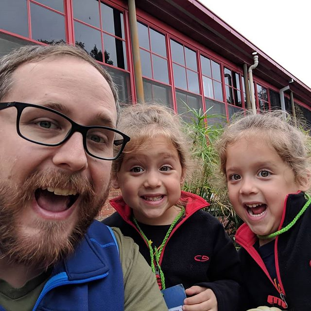 Pumpkin patch field trip selfie!