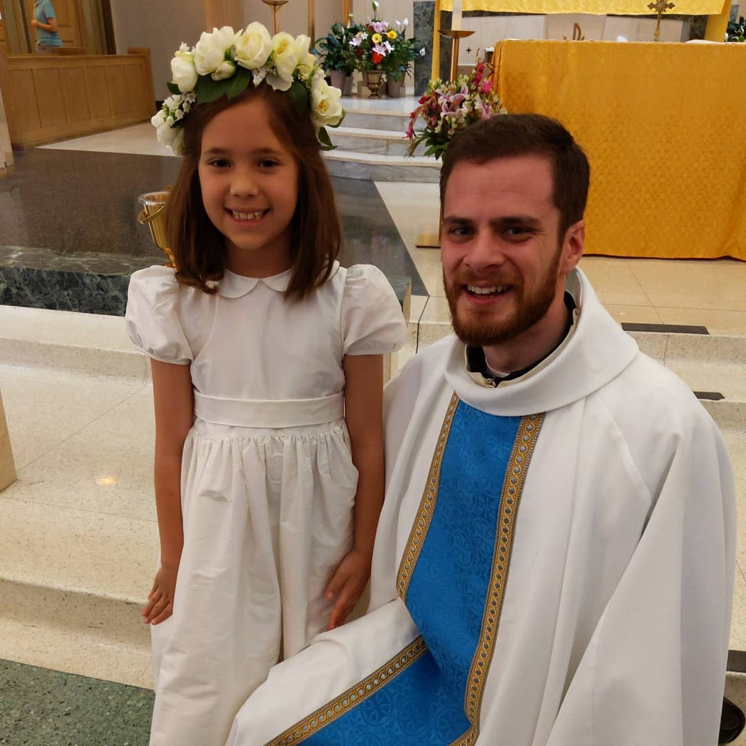 Catalina's First Communion was celebrated by Fr. Karl, who was ordained three weeks ago