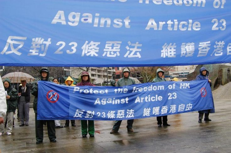 Article 23 is controversial in Hong Kong as it attempts to restrict civil liberties by increasing government power over its citizens. Photo: Minghui