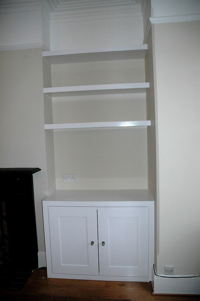 Alcove Cupboard and Floating Shelves  Carpentry  Joinery job in Northampton Northamptonshire