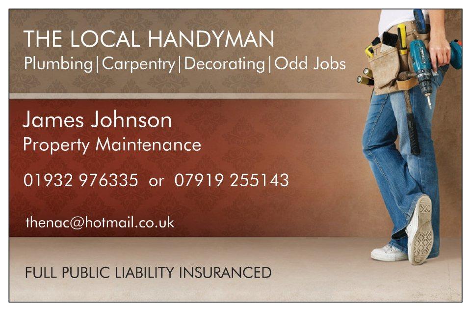 The Local Handyman 100 Feedback Handyman in Shepperton