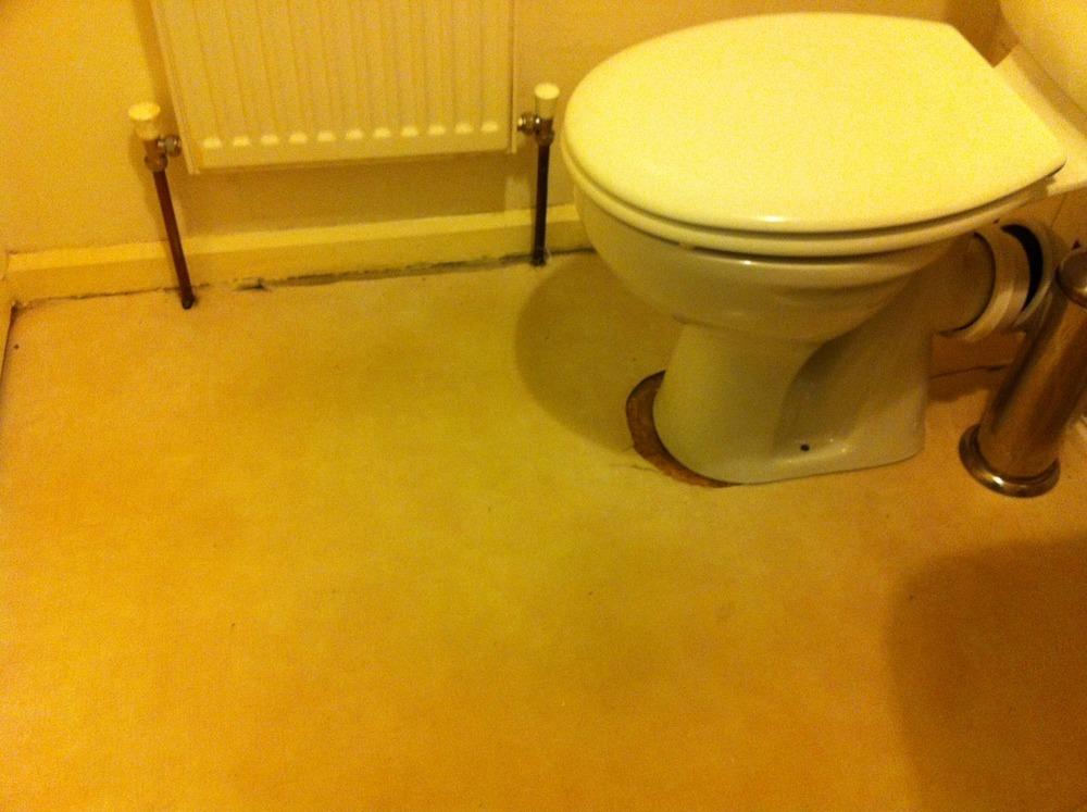 Laying vinylLino flooring in bathroom  Hard Flooring job in Cambridge Cambridgeshire  MyBuilder