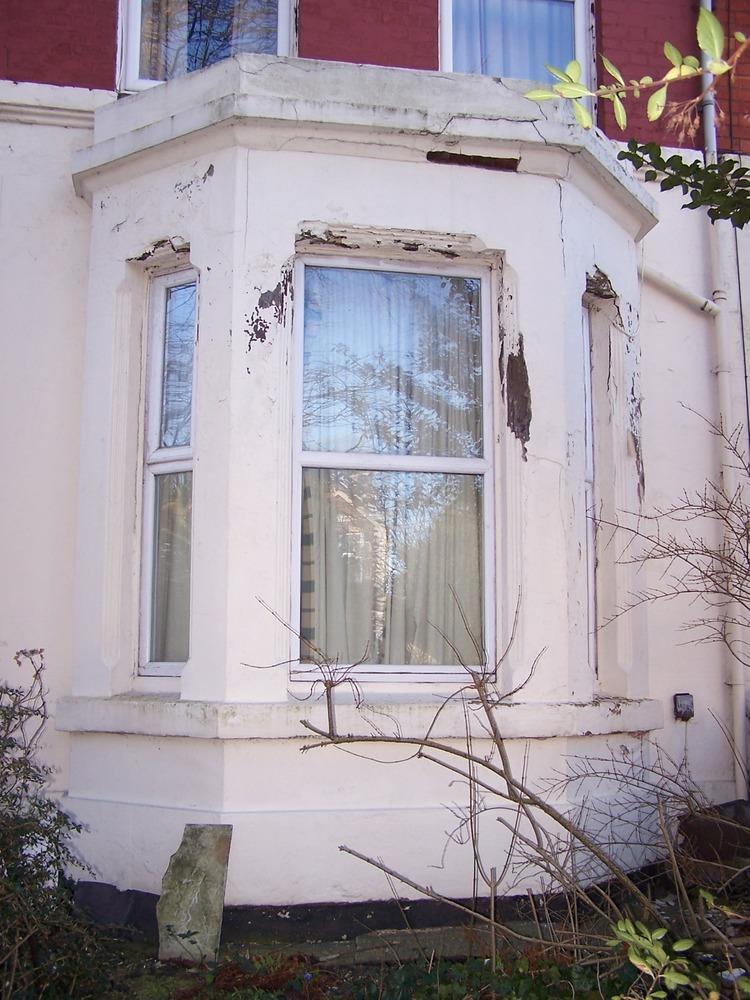 Exterior brickwork on victorian bay window  Bricklaying